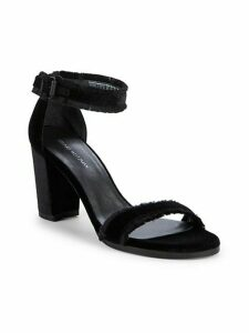 Frayed Ankle Strap Sandals