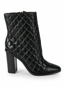 Quilted Leather Booties