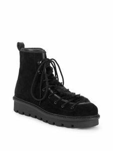 Cooperation Faux Fur Trim Suede Boots