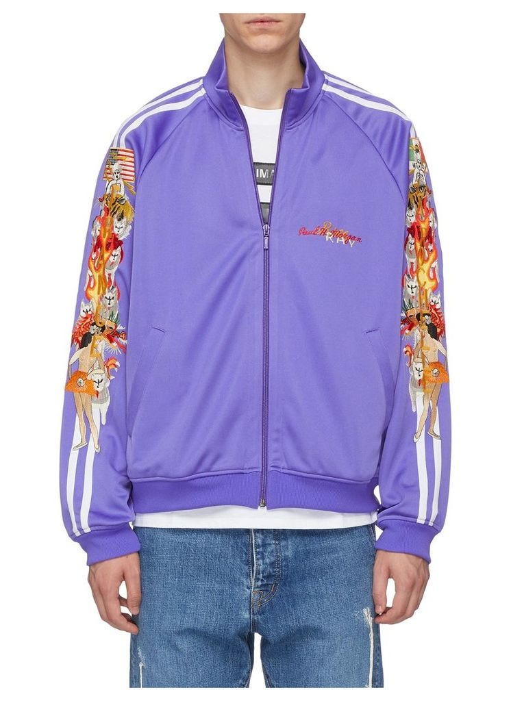 'Chaos' embroidered track jacket