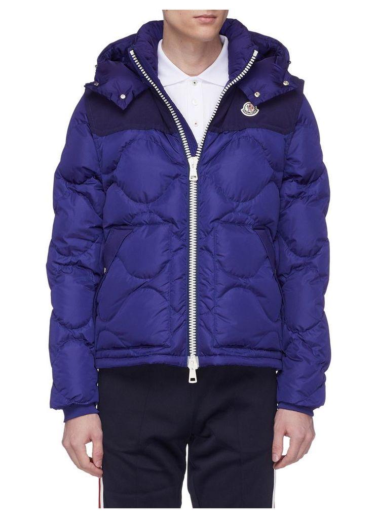 Detachable sleeve down puffer jacket