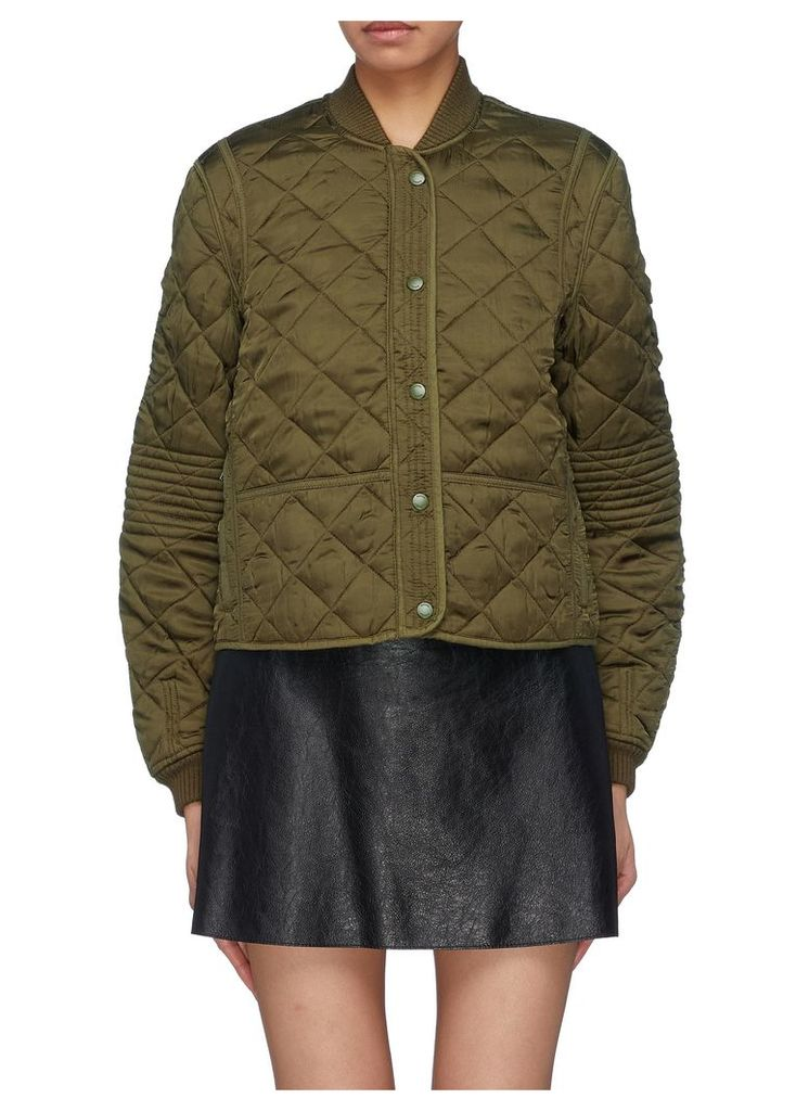 PSWL care label appliqué quilted jacket