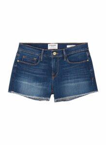 'Le Cut Off Williams' raw edge cuff denim shorts