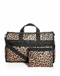 LeSportsac Candace Leopard Print Weekender Duffel Bag