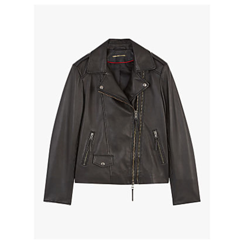 Gerard Darel Susan Leather Jacket, Mid Brown