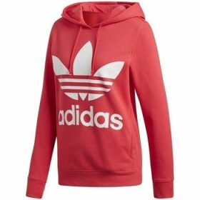 adidas  Trefoil Hoodie  women's Sweatshirt in Red