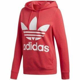 adidas  Trefoil Hoodie  women's Sweatshirt in Red
