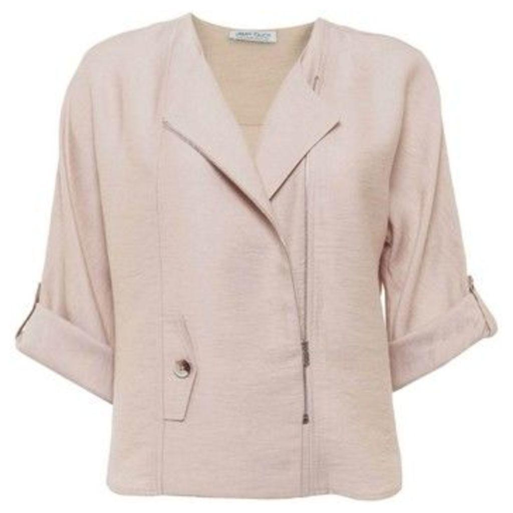 Urban Touch  Zip Detailed Jacket  women's Jacket in Beige