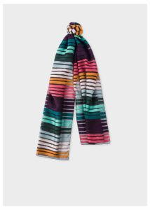 Women's 'Artist Stripe' Sheer Silk-Blend Scarf