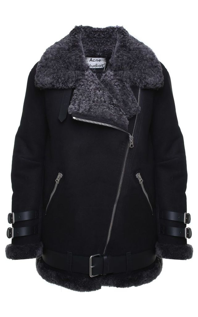 Acne Studios Velocite Suede And Shearling Jacket