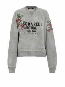Dsquared2 Flower Patch Logo Sweatshirt