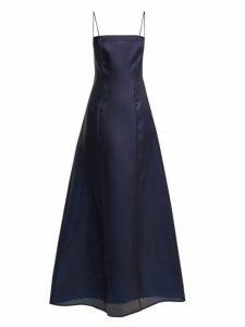 Albus Lumen - Noche Silk-organza Maxi Dress - Womens - Navy