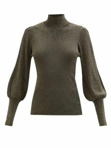 Raey - Displaced Sleeve Tiger Knitted Sweater - Womens - Brown Multi