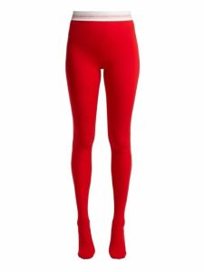 Marine Serre - Logo Waist Tights - Womens - Red