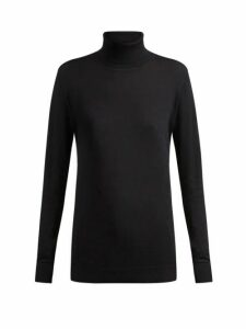 Raey - Roll Neck Fine Knit Cashmere Sweater - Womens - Navy