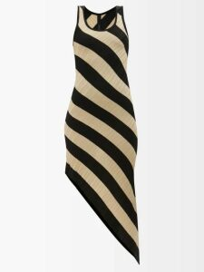 Raey - Long-line Fine-knit Cashmere Sweater - Womens - Dark Green