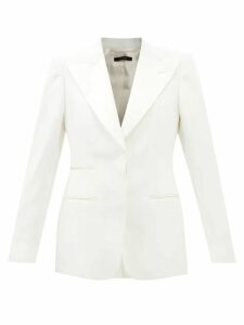 Marit Ilison - Palm Intarsia Tasselled Cotton Coat - Womens - Pink Multi