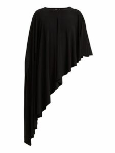 Norma Kamali - Diagonal Stretch Jersey Shawl - Womens - Black