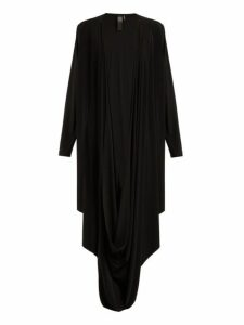 Norma Kamali - Draped Jersey Cardigan - Womens - Black
