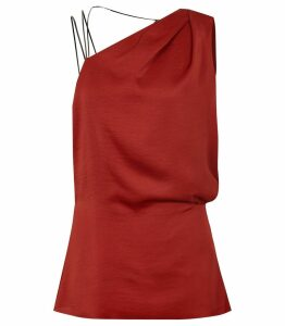 Reiss Adalee - Strappy Back Top in Red, Womens, Size 14