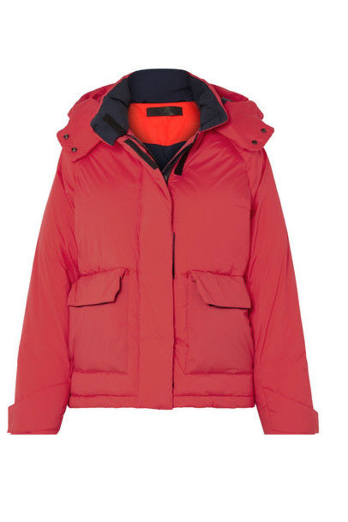 rag & bone - Aiden Hooded Quilted Shell Jacket - Red