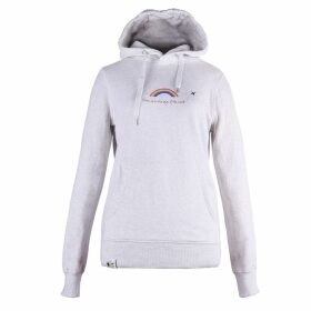 blonde gone rogue - Rainbow Organic Cotton Hoodie In Grey