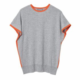 Cove - Eva Grey & Orange Cashmere Jumper