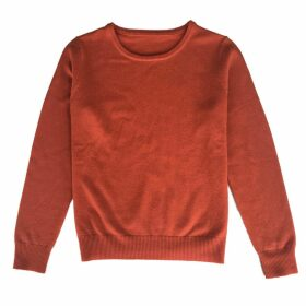 IGGY & BURT - Orange Cashmere Blend Crew Neck Jumper