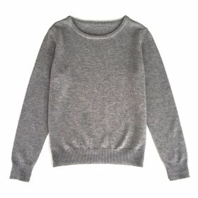 IGGY & BURT - Grey Cashmere Blend Crew Neck Jumper