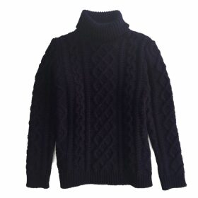 IGGY & BURT - Navy Burt Roll Neck Jumper