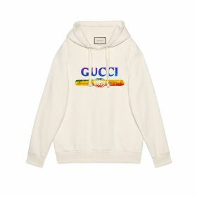Sweatshirt with sequin Gucci logo