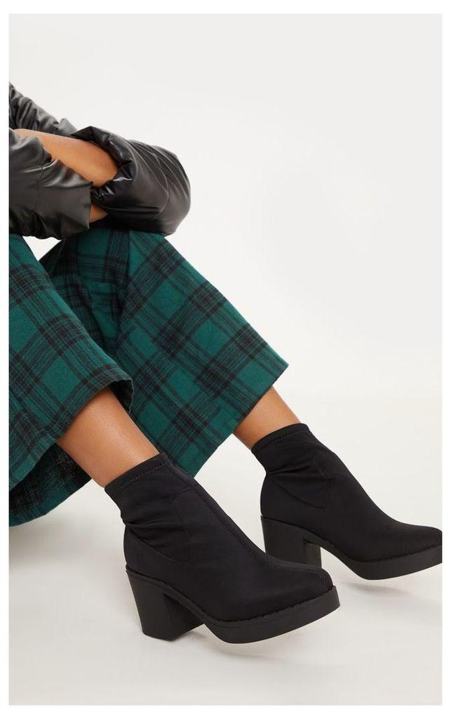Black Platform Sock Boots