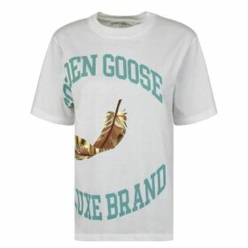 Golden Goose Deluxe Brand Bernina Short Sleeve Logo T Shirt
