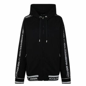 Dolce and Gabbana Logo Tape Hooded Sweatshirt