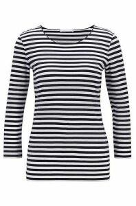 Slim-fit striped top in stretch jersey