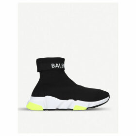 Balenciaga Women's Black Logo Speed Stretch-Knitted Sneakers