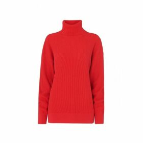 Kitri Mabel Red Roll Neck Jumper