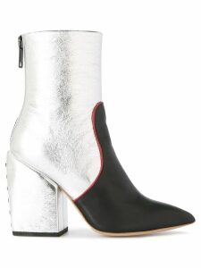 Petar Petrov metallic ankle boots - Silver