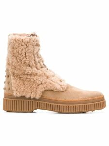 Tod's shearling ankle boots - Neutrals