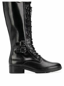 Hogl lace-up knee length boots - Black