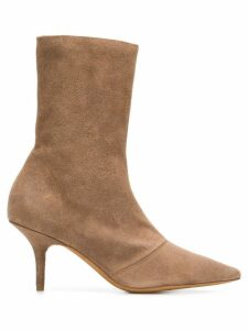Yeezy pointed ankle boots - Brown