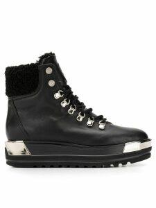 Baldinini platform lace-up boots - Black