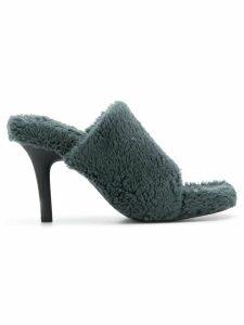 Yeezy faux fur mules - Blue