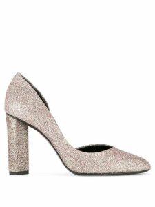 Pierre Hardy block heel pumps - Metallic