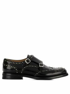 Church's microstud monk shoes - Black