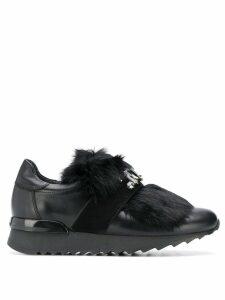 Baldinini embellished strap sneakers - Black