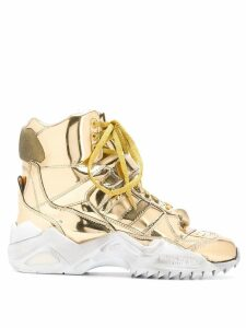 Maison Margiela high-top retro fit sneakers - Gold