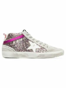 Golden Goose Rainbow glitter suede hi-tops - Grey