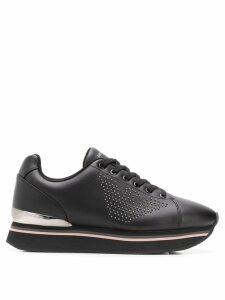 Emporio Armani lace-up sneakers - Black