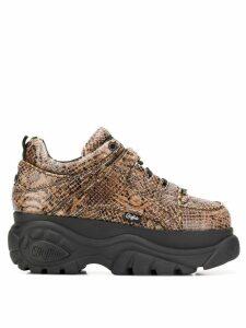 Buffalo Buffalo x Junya Watanabe python platform sneakers - NEUTRALS